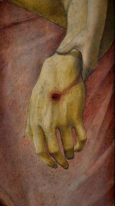 Gemäldegalerie Berlin, Giovanni Bellini, der tote Christus, von zwei Engeln gestützt