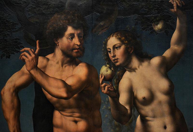 Gemäldegalerie Berlin, Jan Goessart, Adam und Eva, Der Sündenfall
