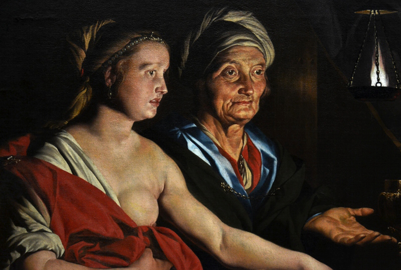 Gemäldegalerie Berlin, Matteus Stom, Sarah führt Abraham Hagar zu
