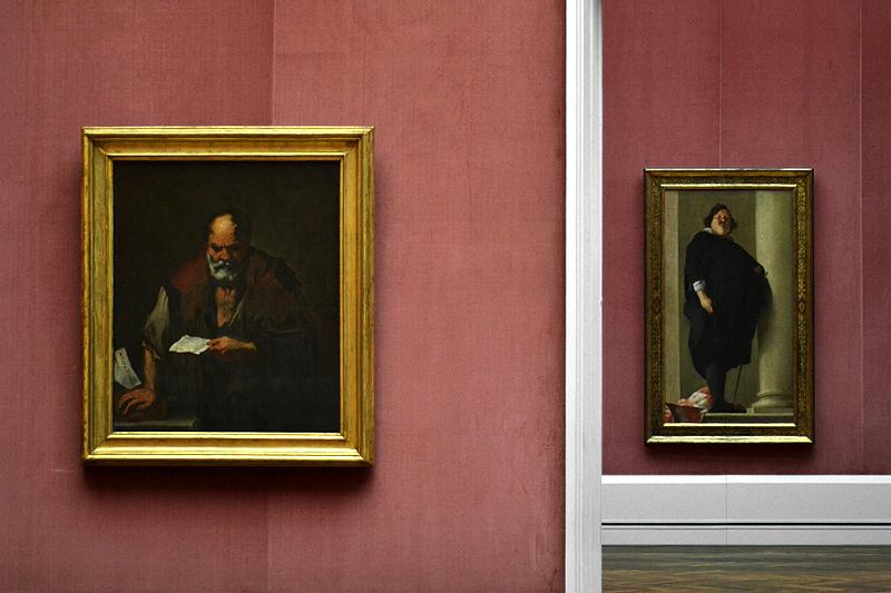 Charles Mellin, Bildnis eines Mannes, Luca Giordano, Euklid; Gemäldegalerie Berlin