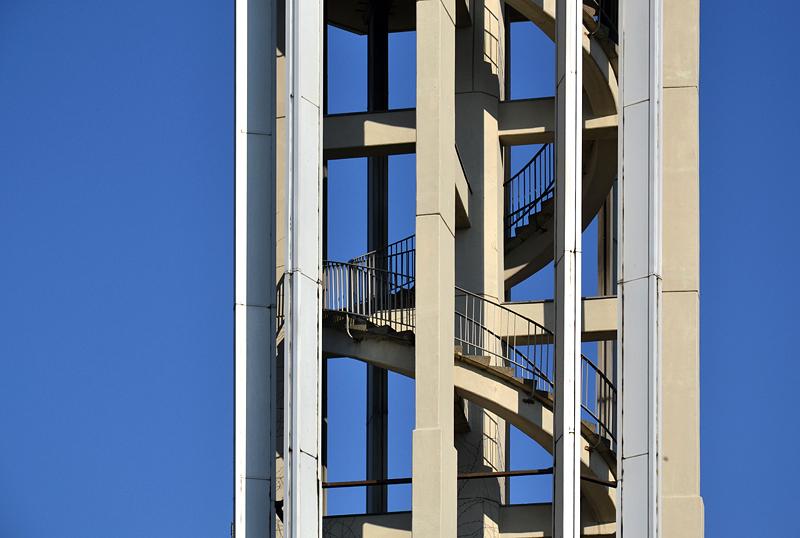 Hansaviertel Berlin, Interbau 1957, Glockenturm der Kaiser-Friedrich-Gedächtniskirche von Ludwig Lemmer