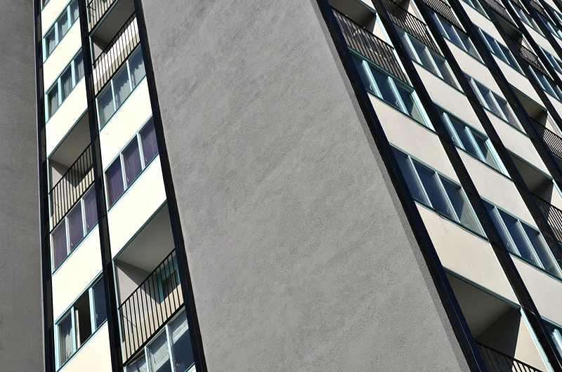 Hansaviertel Berlin, Interbau 1957, Punkthaus von Raymond Lopez und Eugène Beaudouin