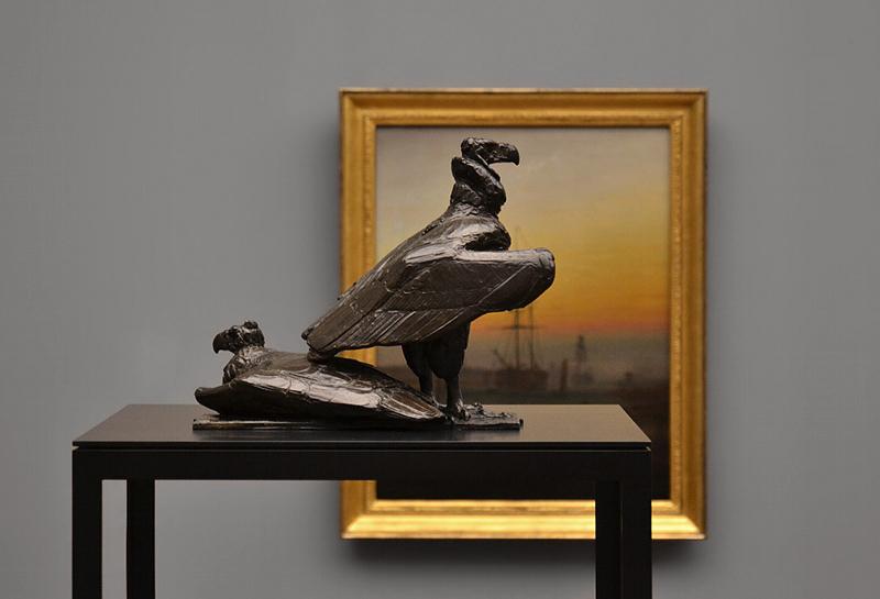 Rembrandt Bugatti, Alte Nationalgalerie, geier, deux vautours