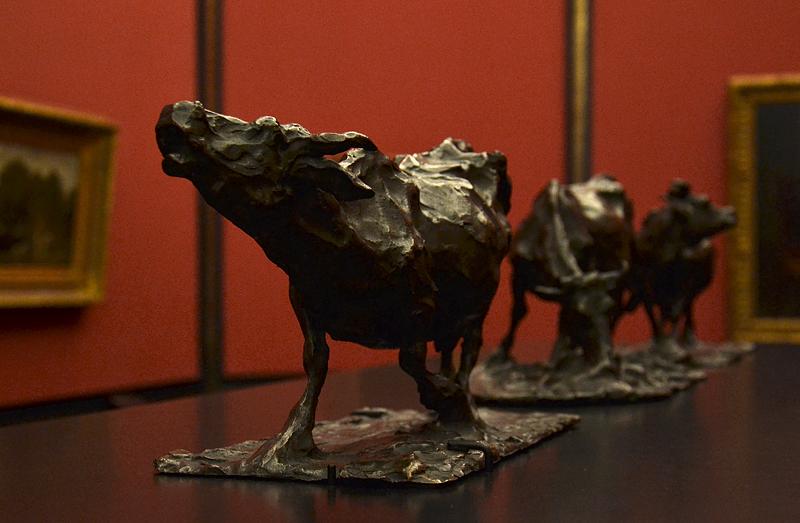 Rembrandt Bugatti, Alte Nationalgalerie, Brüllende Kuh, vache meuglant