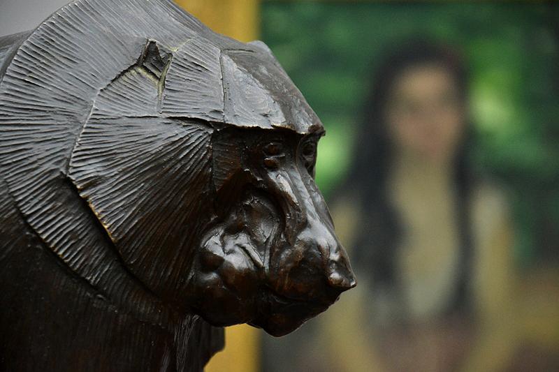 Rembrandt Bugatti, Alte Nationalgalerie, Mantelpavian, babouin sacre hamadryas