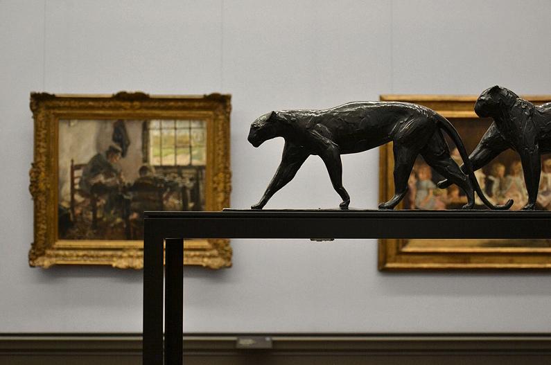 Rembrandt Bugatti, Alte Nationalgalerie, Leoparden, Deux leopards marchant