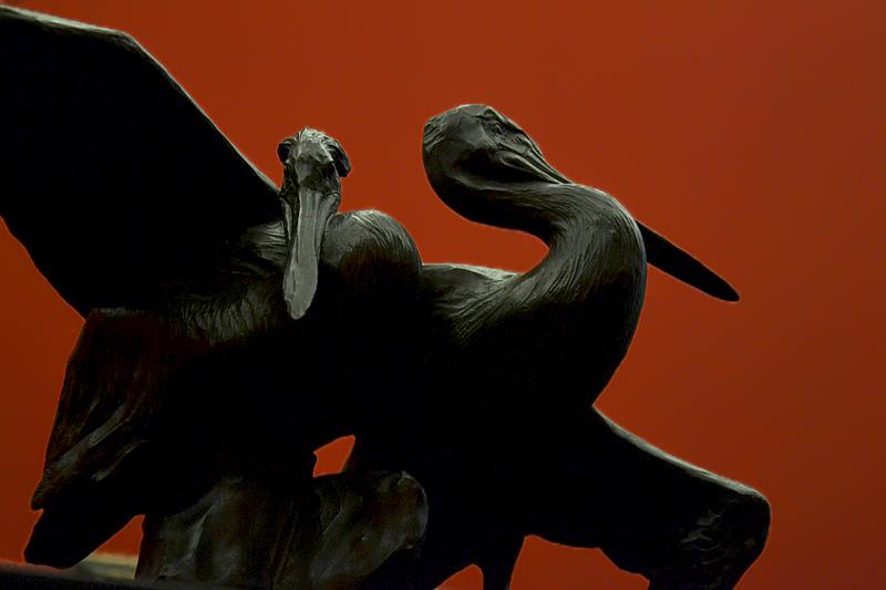 Rembrandt Bugatti, Alte Nationalgalerie, Zwei Pelikane, Deux pelicans