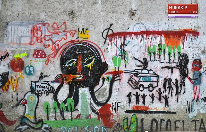 Istanbul, Murakıp Sokak, Graffiti