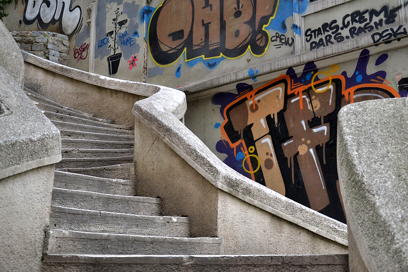 istanbul, Galata, Kamondo stairs