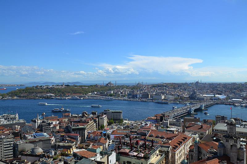 Istanbul, Blick vom Galata-Turm über das Goldene Horn