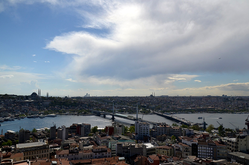 Istanbul, Blick vom Galata-Turm auf die Atatürk-Brücke
