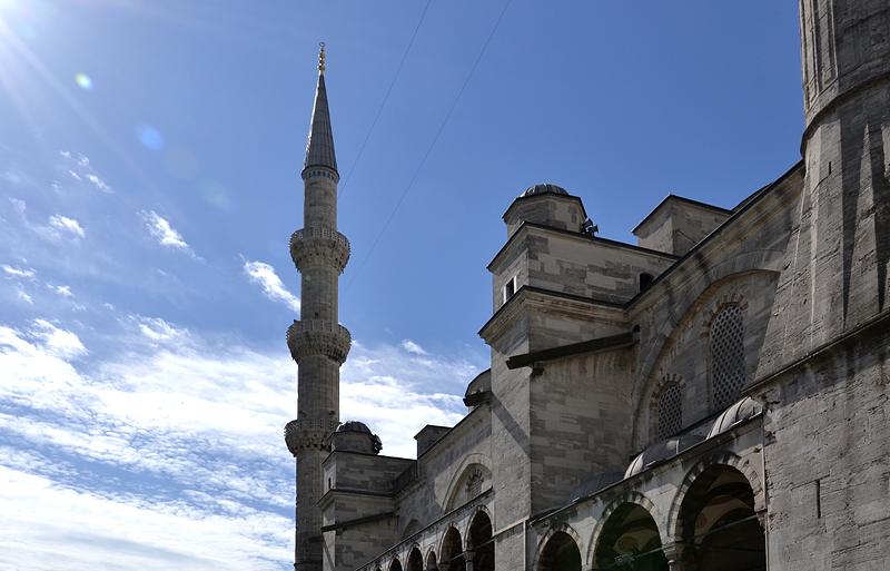Istanbul, Blaue Moschee, Minarett