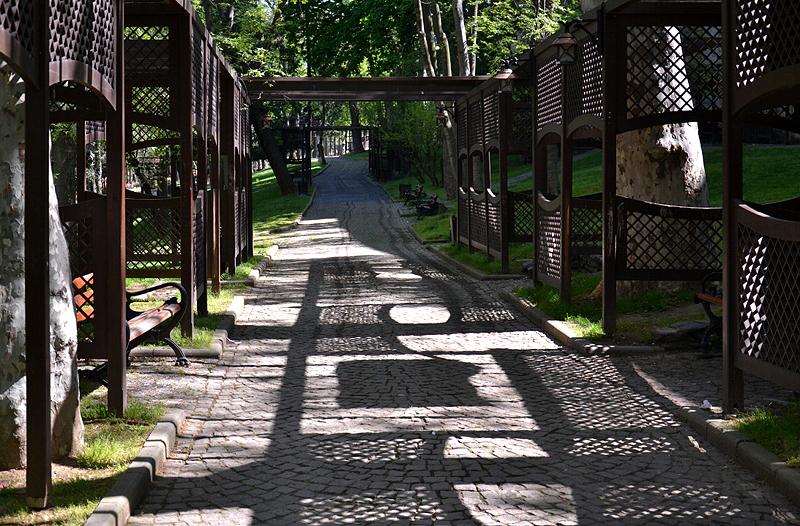 Istanbul, Lauben im Gülhanepark