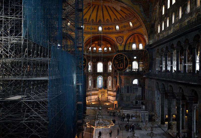 Istanbul, Hagia Sophia, Gerüst