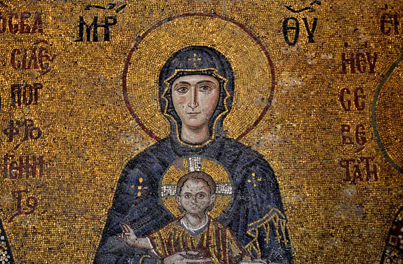 Hagia Sophia, Mosaik der Muttergottes auf der Galerie