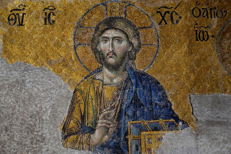 Hagia Sophia, Christus im Deesis-Mosaik