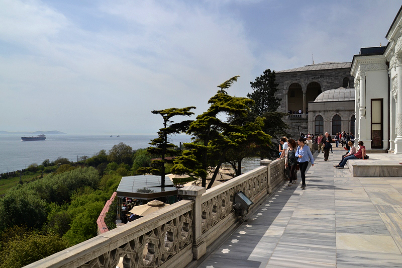 Topkapi-Palast, Blick vom Mecidiye-Pavillon auf den Bosporus