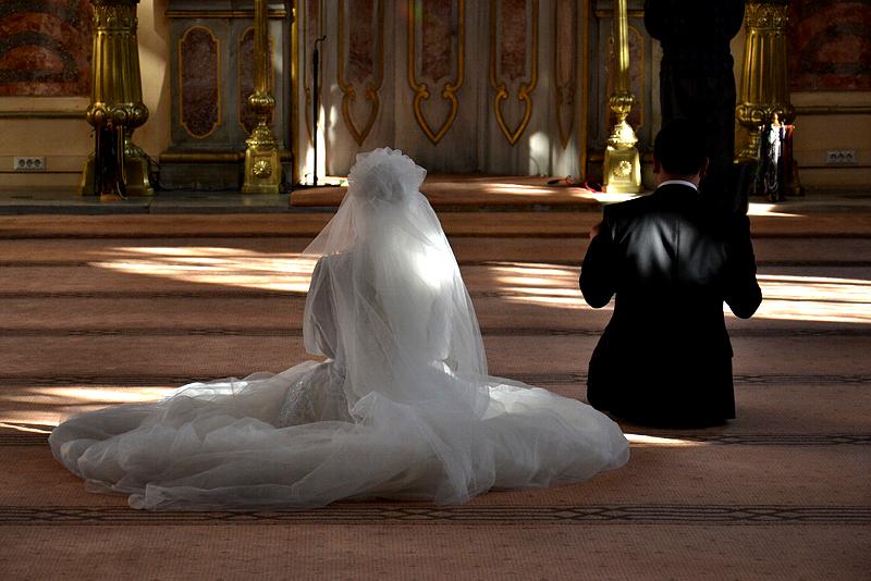 Beşiktaş, Dolmabahçe-Moschee, Brautpaar