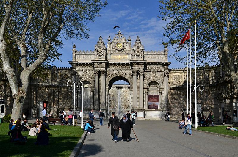 Istanbul, Beşiktaş, Dolmabahçe-Palast, Sultanstor