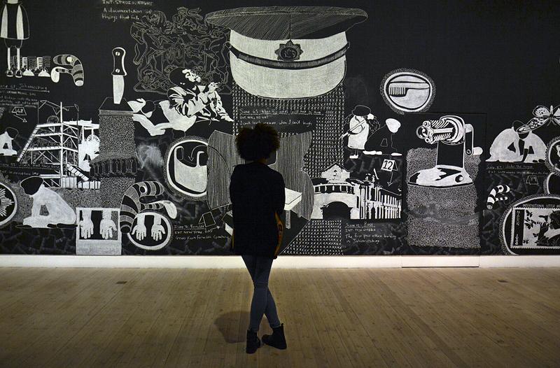 8. Berlin Biennale, Museen Dahlem, Kemang Wa Lehulere, The grave step
