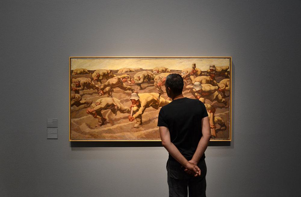 Albin Egger-Lienz, Nordfrankreich / Den Namenlosen (Leopold Museum Wien)
