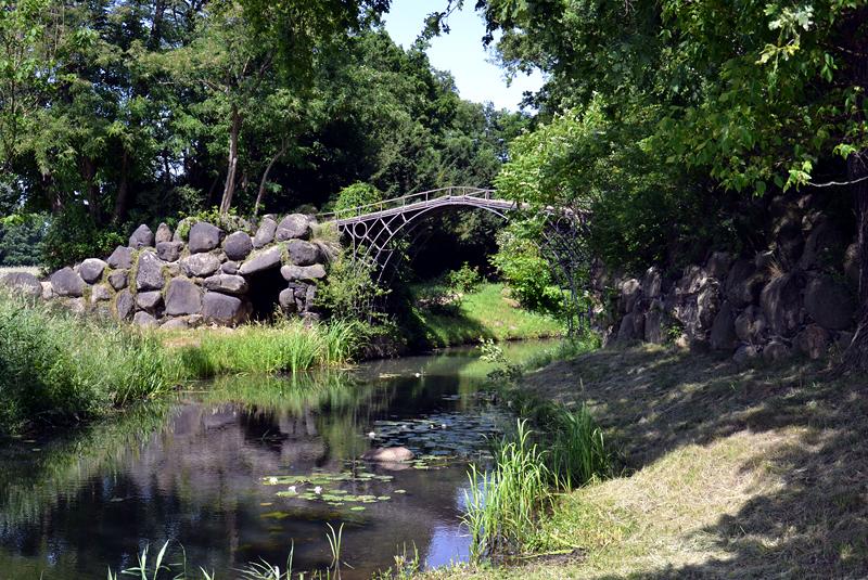 Eiserne Brücke im Park Wörlitz