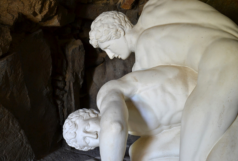 Skulpturengruppe auf der Insel Stein