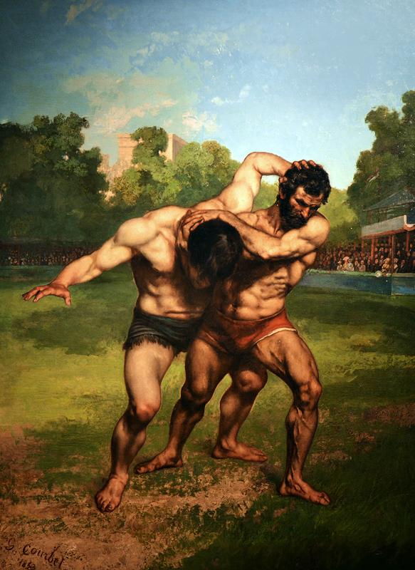 Gustave Courbet, The Wrestler, Szépművészeti Múzeum Budapest