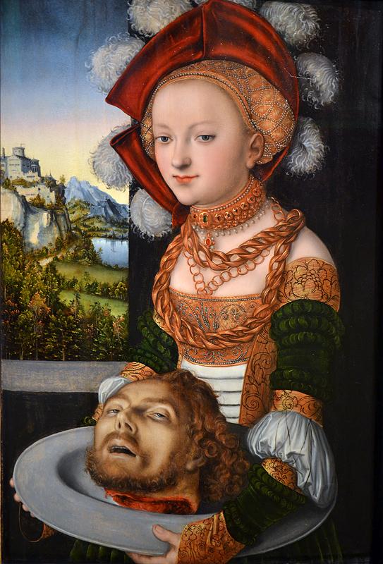 Lucas Cranach d.Ä., Salome with the Head of John the Baptist, Szépművészeti Múzeum Budapest