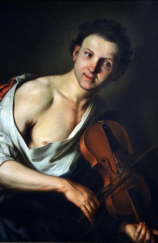 Jan Kupetzky, Young Man with Violin, Szépművészeti Múzeum Budapest