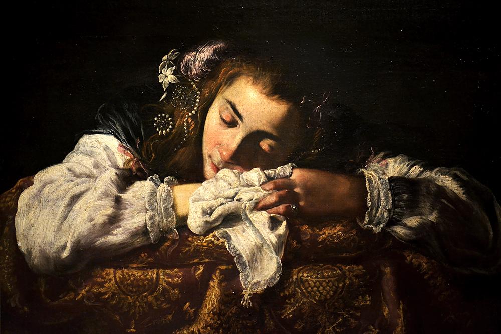 Roman Painter, Sleeping Girl, Szépművészeti Múzeum Budapest