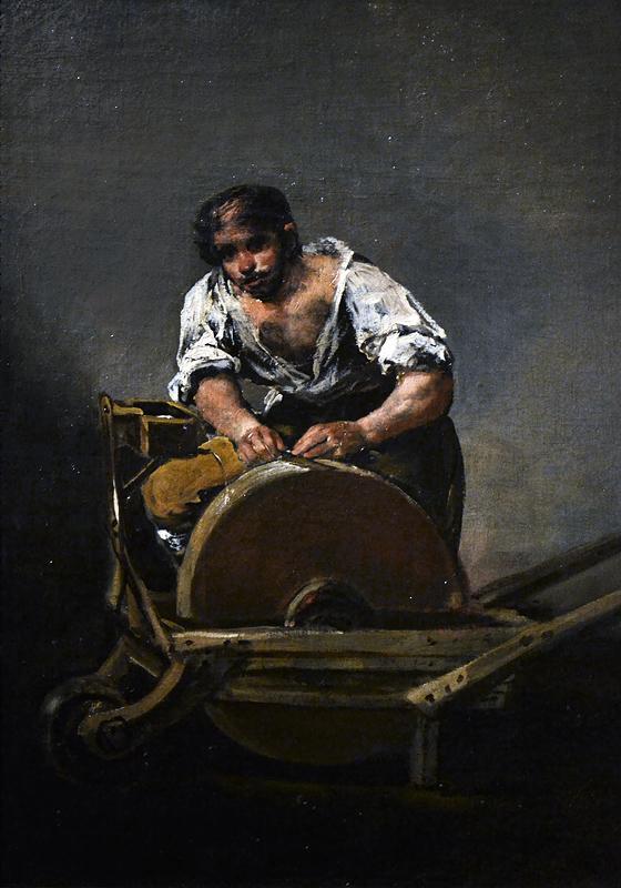 Goya, Knife Grinder, Szépművészeti Múzeum Budapest