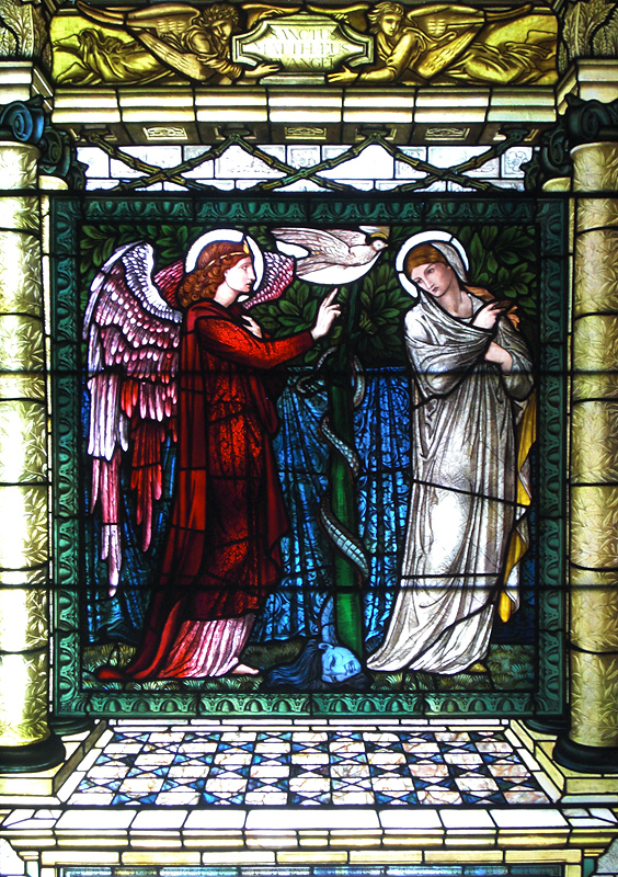 Castle Howard, Annunciation, Stained Glass by Edward Burne-Jones