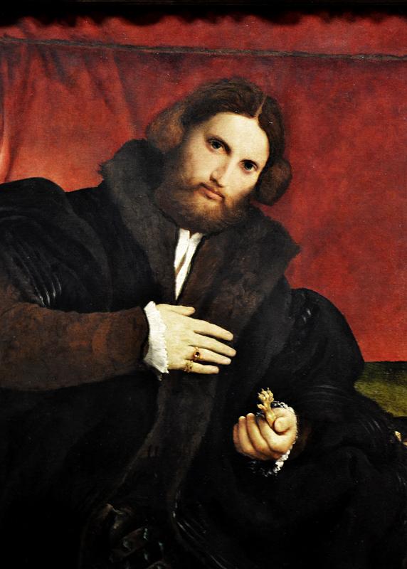 Kunsthistorisches Museum Wien, Lorenzo Lotto, Bildnis eines Mannes mit einer goldenen Tierpranke (Leonino Brembate?)