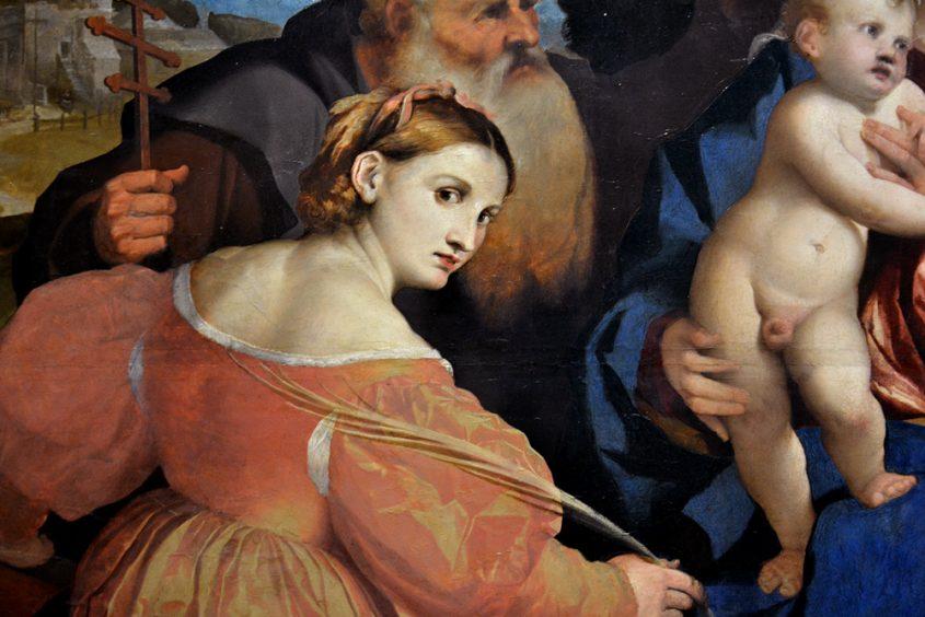 Kunsthistorisches Museum Wien, Palma il Vecchio, Maria mit Kind und Heiligen (Hl. Katharina)
