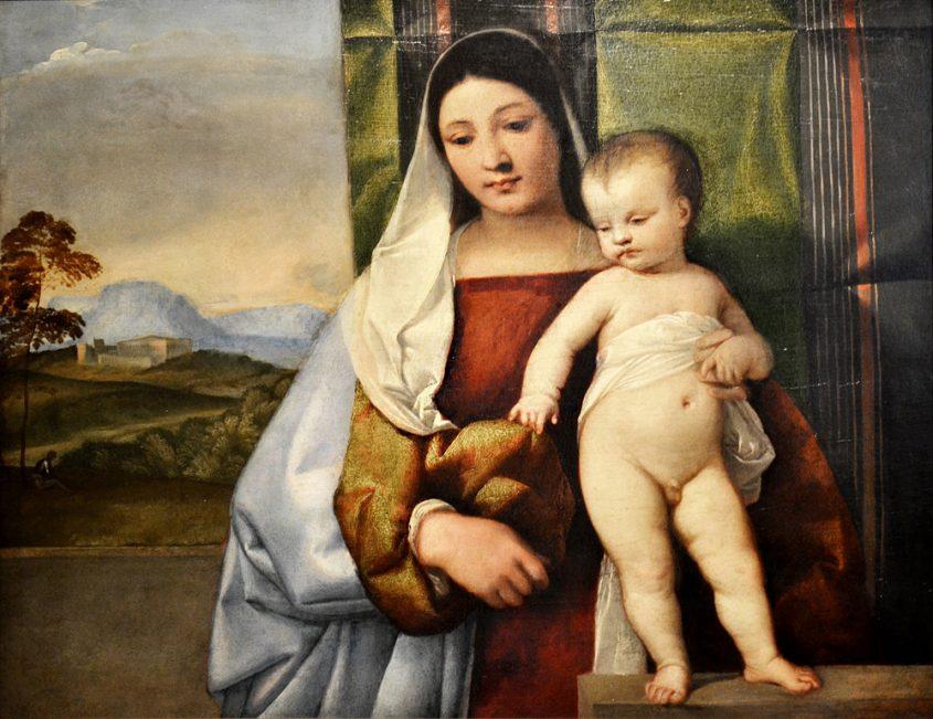 Kunsthistorisches Museum Wien, Tizian, sog. Zigeunermadonna