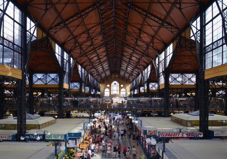 Nagy Vásárcsarnok (Große Markthalle) Budapest, Innenansicht