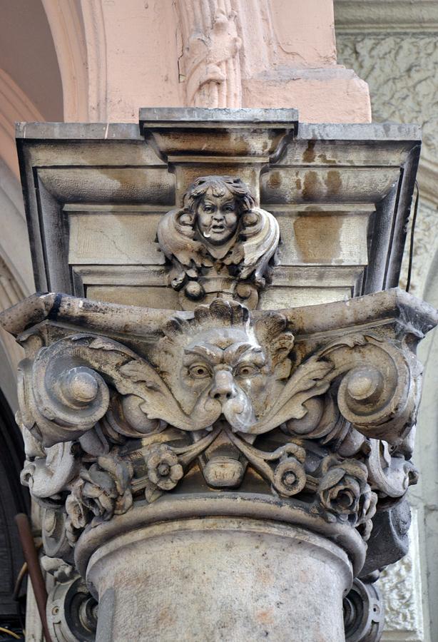 József Körút Säulenkapitell Budapest