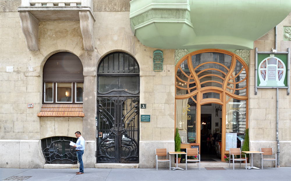 Budapest, Magyar Szecesszió Háza (Jugendstilhaus) von Emil Vidor