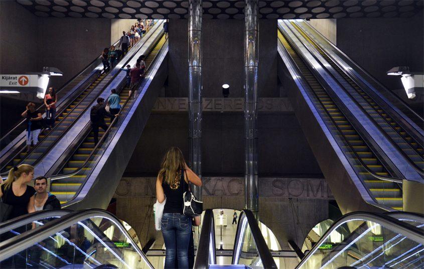 Metro Metrostation Rákóczi tér Budapest