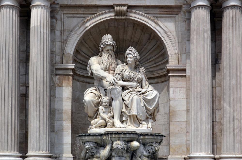 Danubiusbrunnen Wien, Moritz von Löhn und Johann Meixner
