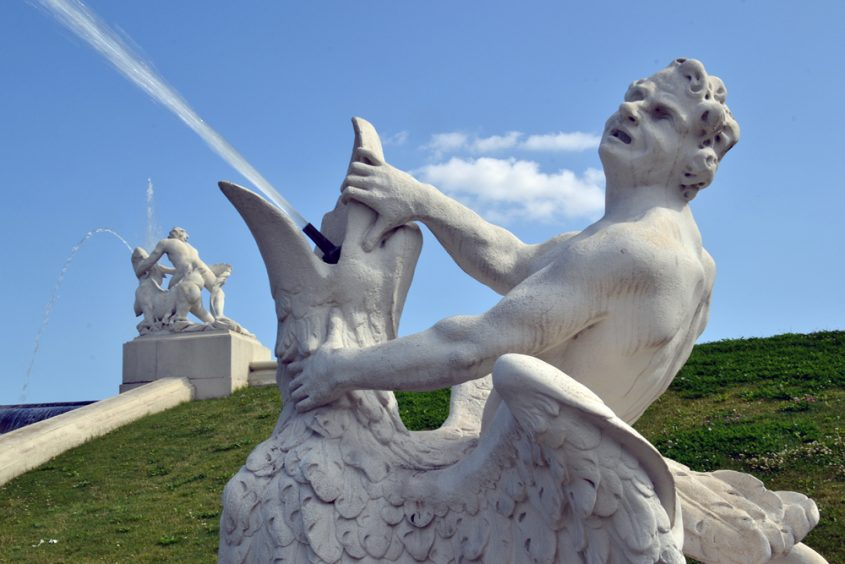 Wien, Kaskadenbrunnen im Belvederegarten