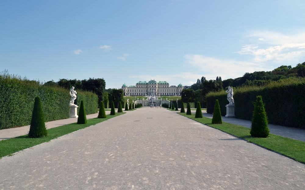 Wien, Blick vom Unteren zum Oberen Belvedere
