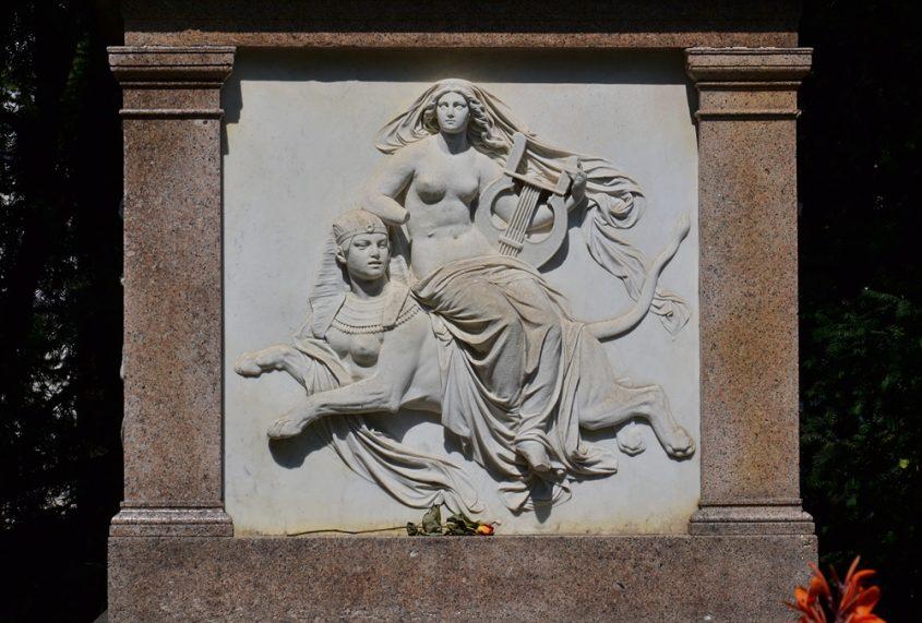 Wien, Sockel des Franz-Schubert-Denkmals im Stadtpark