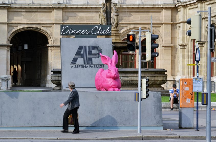 Dürers Hase in Pink, Marketing der Albertina
