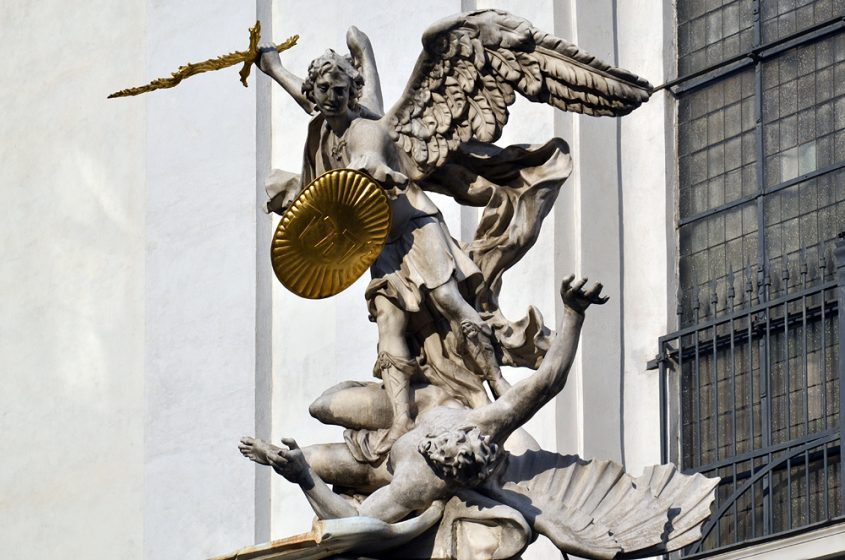 Wien, Erzengel Michael an der Michaelerkirche