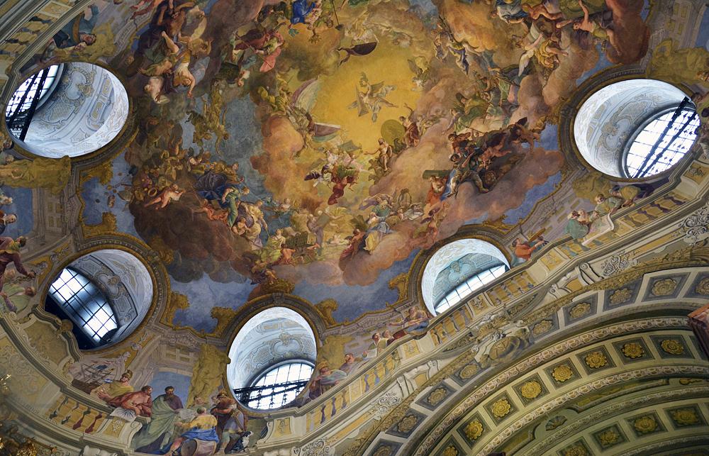 Deckenfresken von Daniel Gran im Prunksaal der Österreichischen Nationalbibliothek