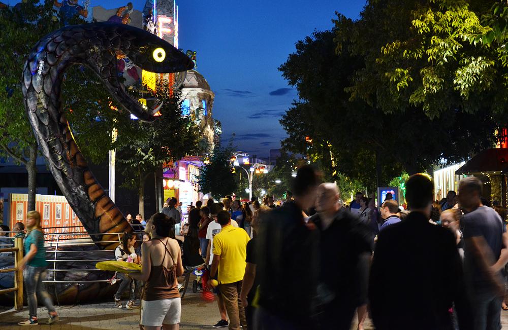 Wien, Prater bei Nacht