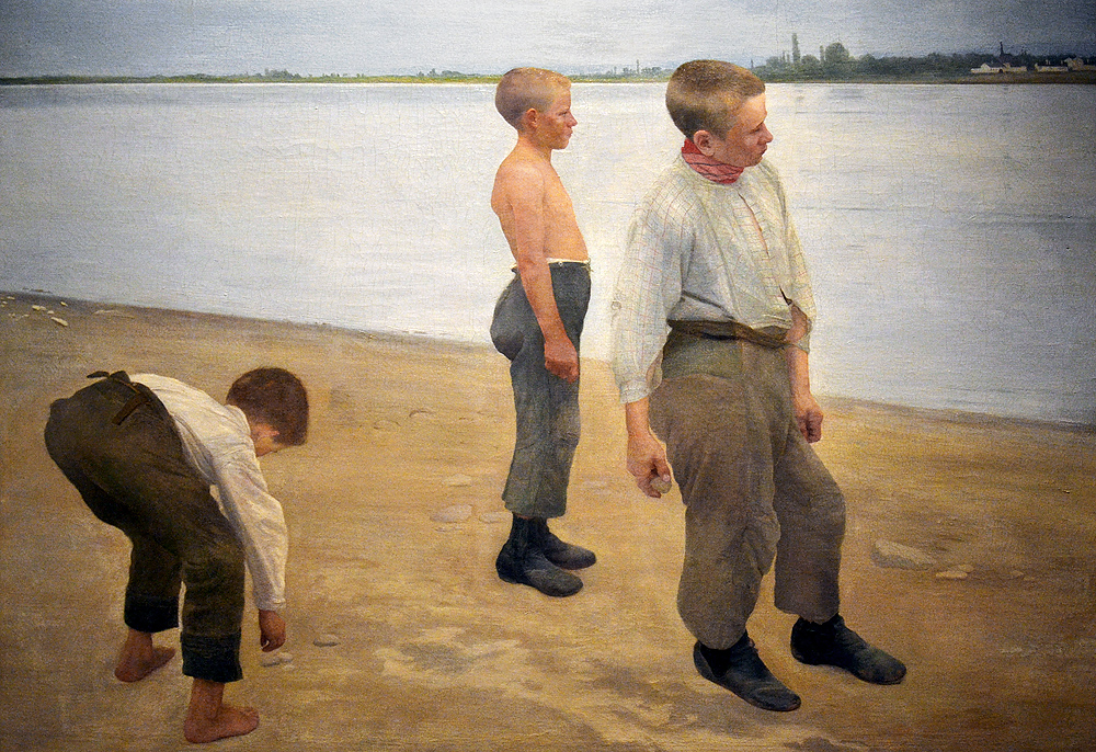 FERENCZY Károly, Boys throwing pennles, Magyar Nemzeti Galéria Budapest