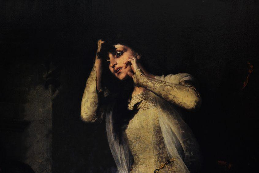 Gyárfás Jenő Tetemrehívás, The Ordeal of the Bier, Magyar Nemzeti Galéria Budapest